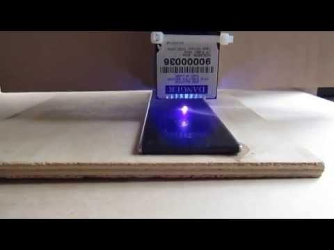 ЧПУ - гравировка на полосе из нержавейки слабым лазером