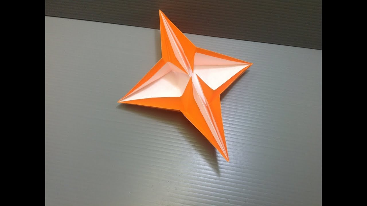 origami 4 pointed star - photo#1