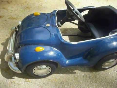 Blue VW Pedal Car, Cool Volkswagon! For Sale!