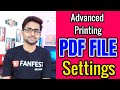 How to Print Word file & pdf File, All option explain | Double Side Print | Collated | Uncollated
