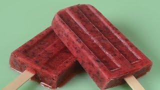 Strawberry Blueberry Frozen Pops Recipe Demonstration - Joyofbaking.com