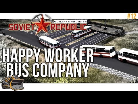 A busy bus company : Workers and Resources Soviet Republic #12