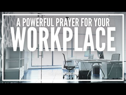 Prayer For Workplace - Daily Morning Prayer For Work