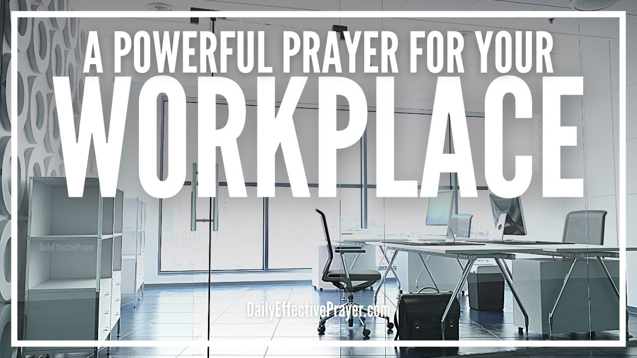 Workplace prayer for well-being