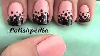 Gradient Polka Dot Nails