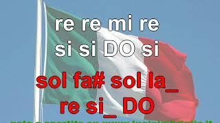 Fratelli d'Italia - karaoke notazionale