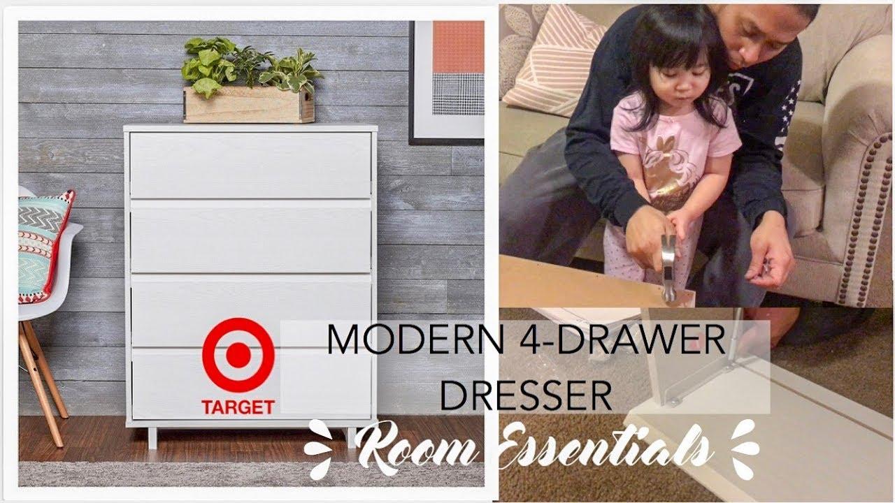 How To Assemble Target S Modern 4 Drawer Dresser Fr Room Essentials Thegarcias Youtube