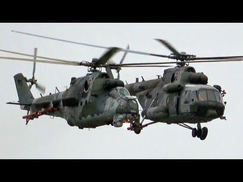 4Kᵁᴴᴰ Czech AF Mi-171S & Mi-24V Combat Search And Rescue Demo @ RADOM AIRSHOW 2018