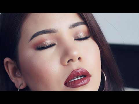 Step By Step Makeup / glitter glam makeup tutorial for beginner / Nepali