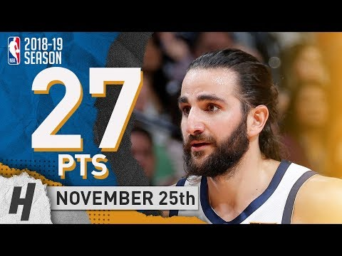 Ricky Rubio Full Highlights Jazz vs Kings 2018.11.25 - 27 Pts, 5 Ast, 7 Rebounds!
