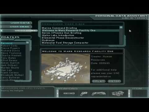 Doom 3 Walkthrough - Bonus - Video Disks