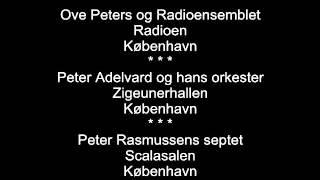 Danske orkestres spillesteder pr. 1. oktober 1949