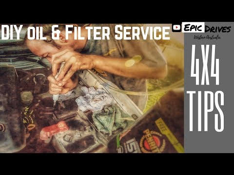 How To Change Oil & Fuel Filters - TOYOTA D4D