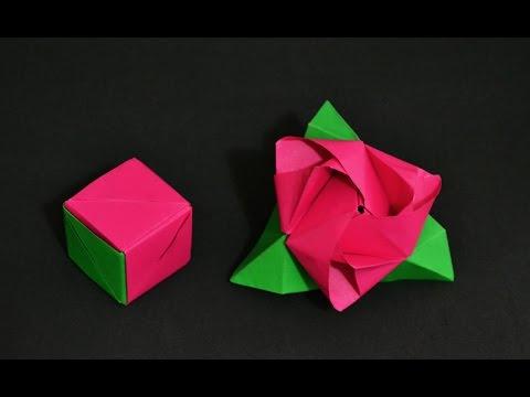 Origami Rose Cube Transformer Valerie Vann Youtube