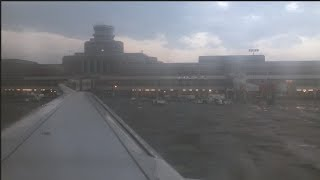 PIA Airbus A320 PK 305 Sunset Takeoff from Lahore (with LiveATC)