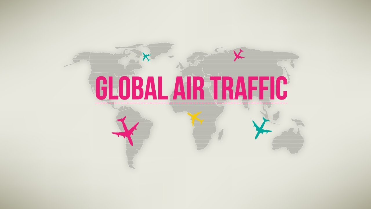 Global Air Traffic-Animated Infographic - YouTube