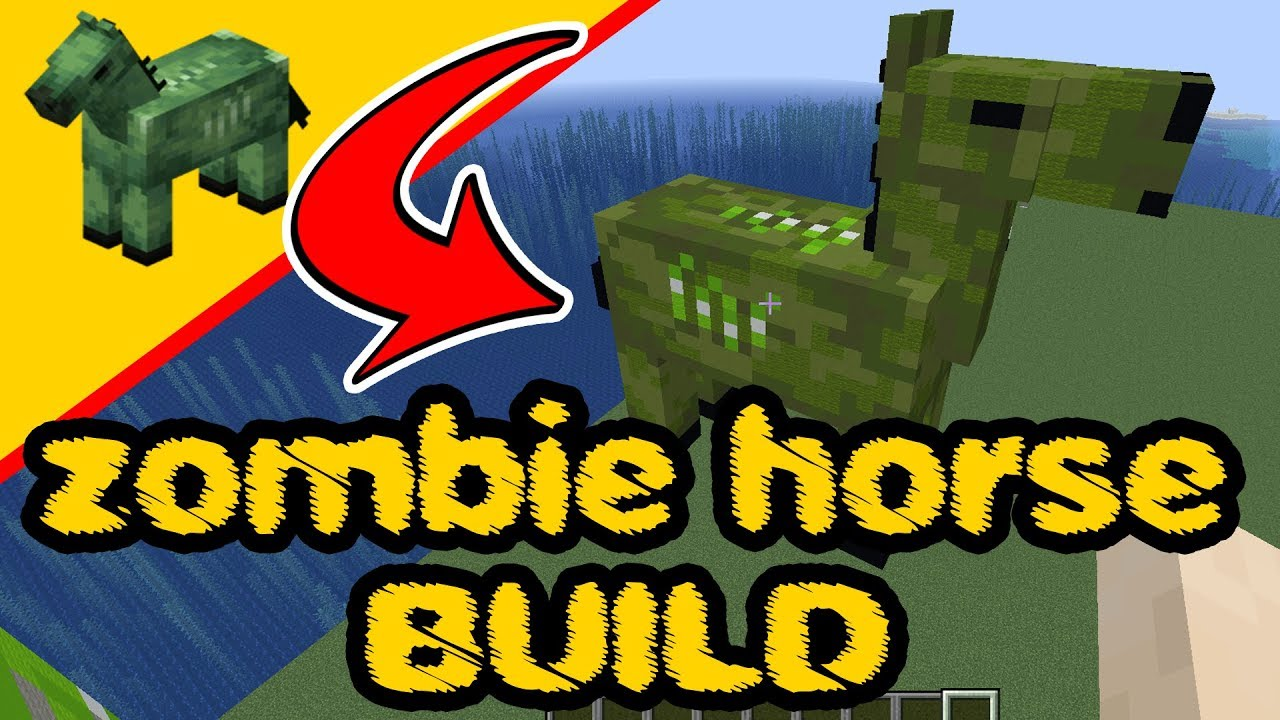 Minecraft Zombie Horse - Statue Build - Zombie Horse, PS10, XBox, PC, Pocket  Edition, Switch