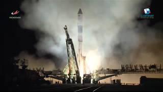 Пуск РКН «Союз-ФГ» с ТГК «Прогресс МС-10»