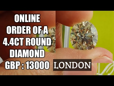 Online Order Of A 4.4ct Round Diamond For GBP 13000 #london