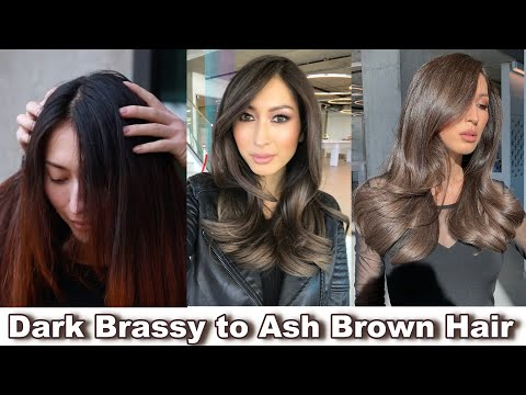 Perfect ASH BROWN For DARK HAIR