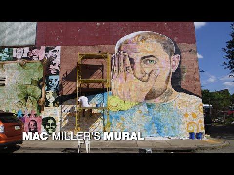 Sheri Van Dyke - Mac Miller Mural..