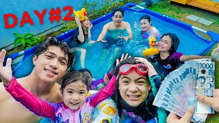 Last To Leave The POOL Wins CASH PRIZE!! (With Family) | Ranz And Niana