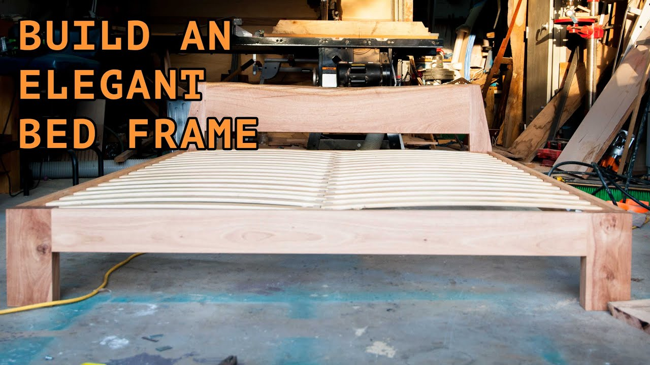 Building a beautiful queen size bed frame - YouTube