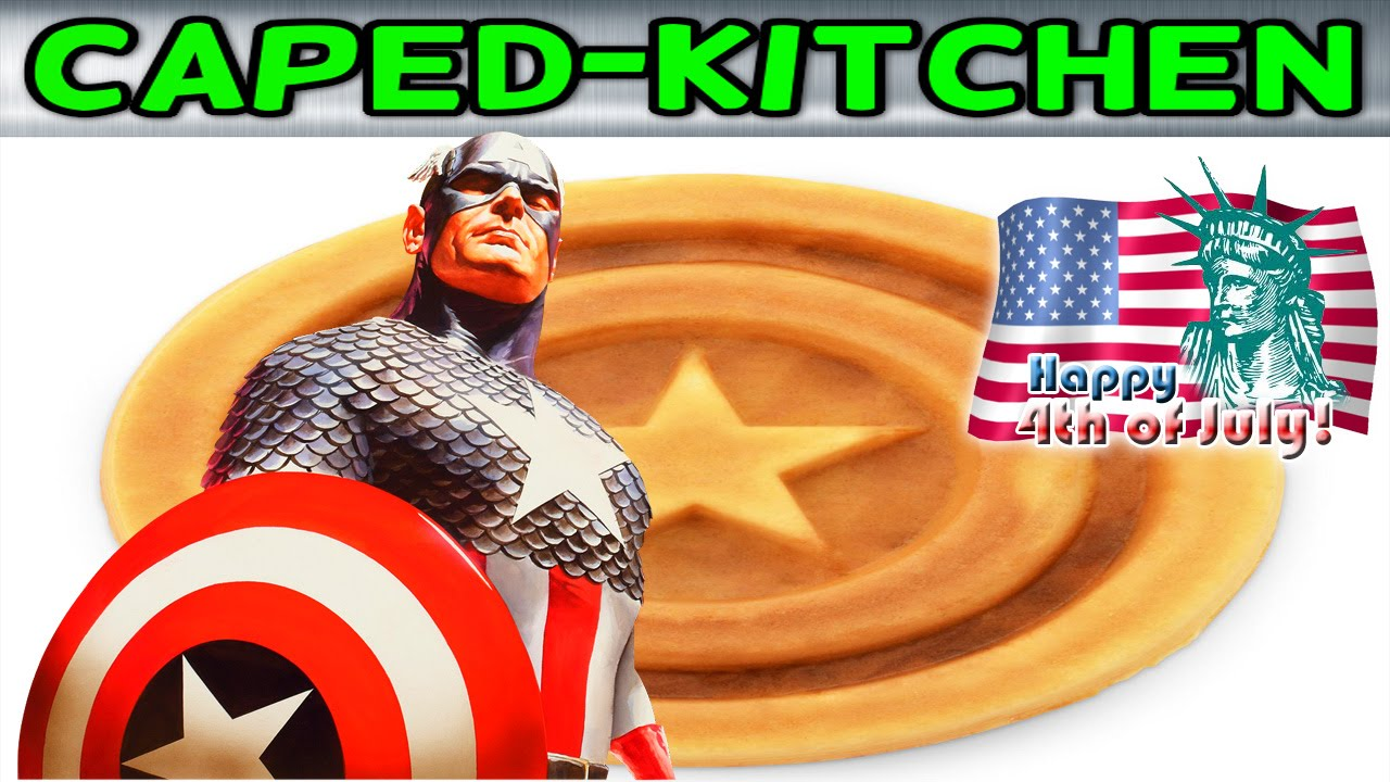 caped kitchen captain america s freedom waffles youtube