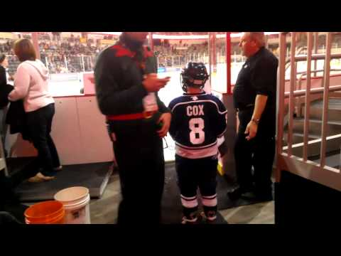 Bubba on ice before Indy Fuel game