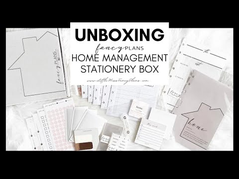 SPOILER ALERT!! Home Management Stationery Box | At Home With Quita
