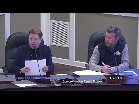 Town Counsel Educational Presentation on Chapter 40B -1/23/18