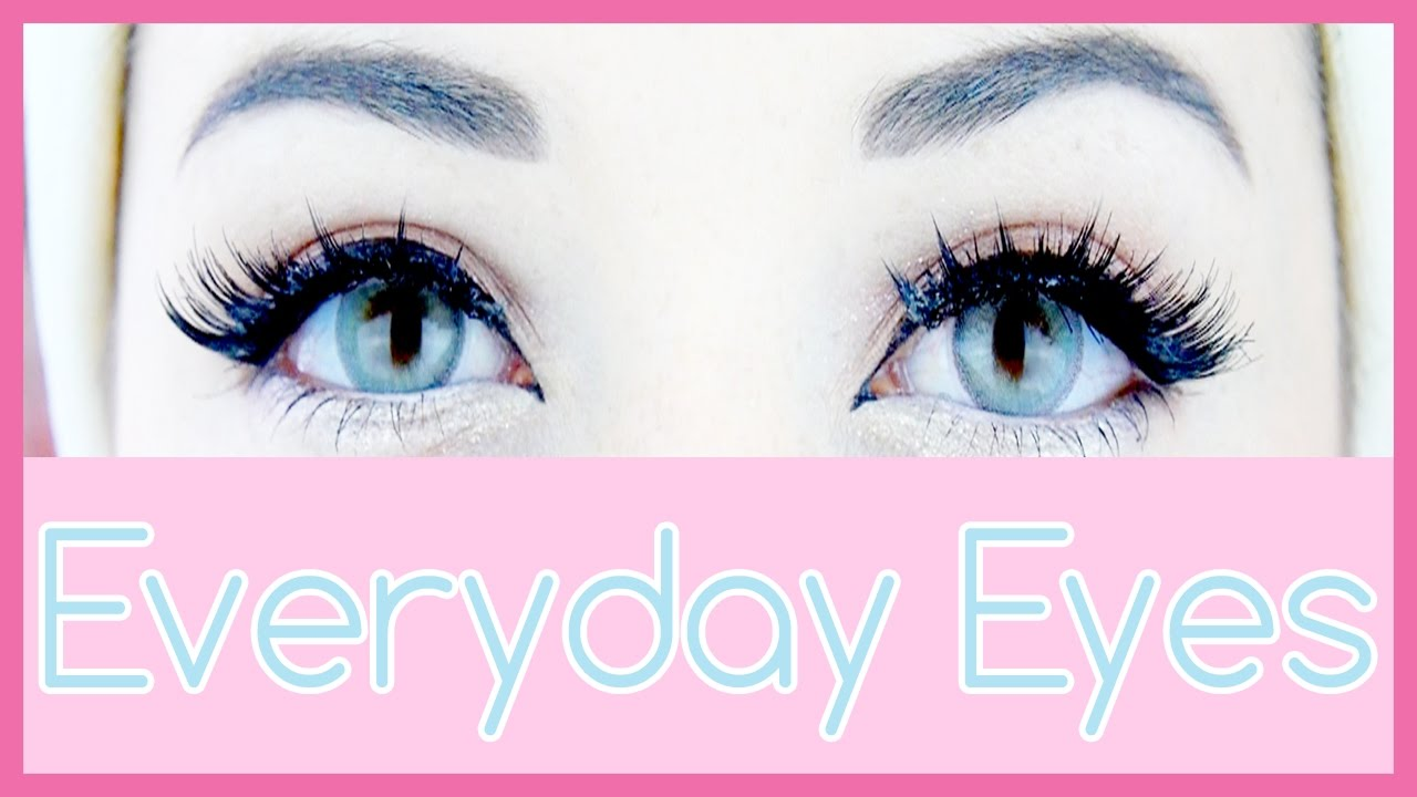 Cute Eyes Tutorial My Everyday Eye Makeup Youtube