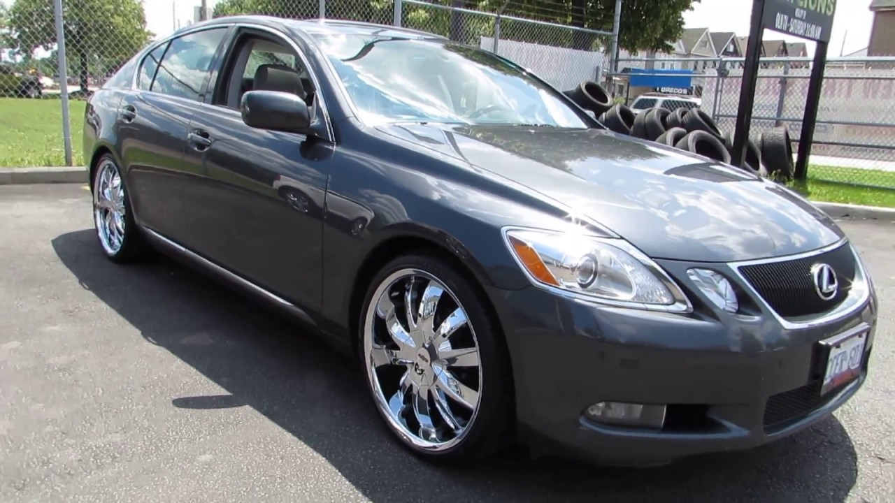 2006 LEXUS GS 300 WITH 20 INCH CUSTOM CHROME RIMS U0026TIRES