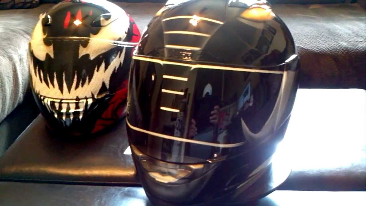 Custom Painted Icon Black Power Ranger Helmet Youtube