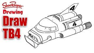 How to Draw Thunderbird Four