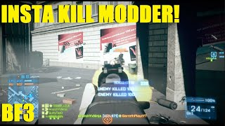 Battlefield 3 - Ninja back on the Battlefield! Playing against a guy with an Intsa kill mod! (Metro)