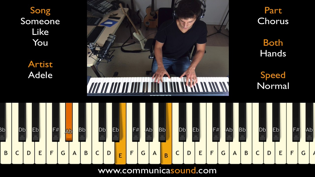Someone like you adele piano chorus normal both hands someone like you adele piano chorus normal both hands tutorial baditri Image collections