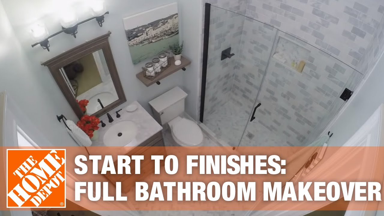 Start to Finishes: Bathroom Makeover - YouTube