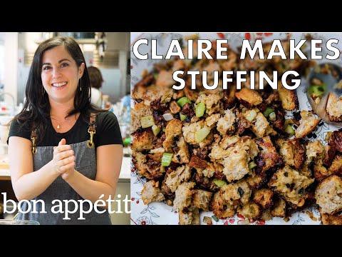 Claire Makes Thanksgiving Stuffing | Bon Appétit