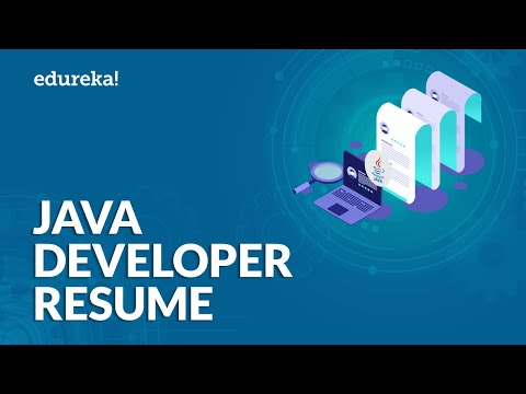 Java Developer Resume | Sample Resume Of A Java Developer | Edureka