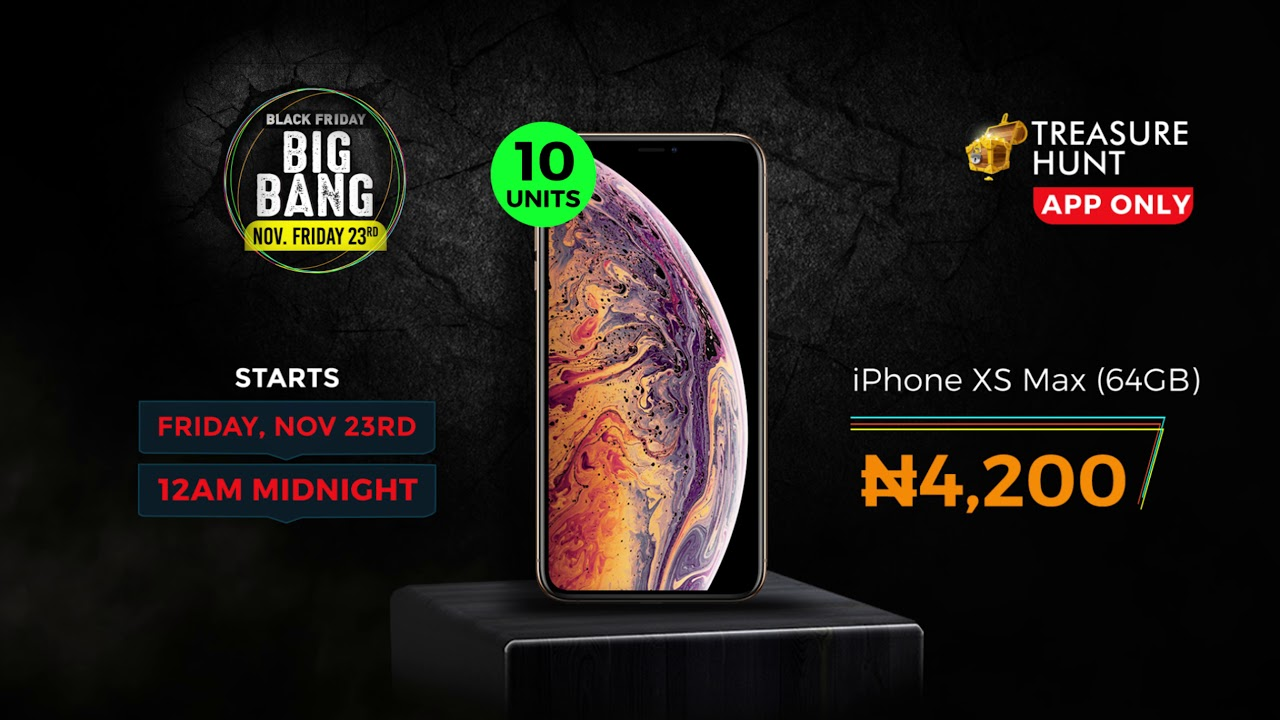 reputable site 5774f 89f8c Jumia Big Bang Friday 2018 - Nov 23rd | 10 iPhone XS Max for N4,200