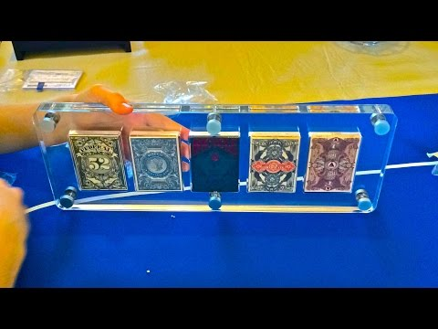 Assembly of Lucite Playing Card Display Case