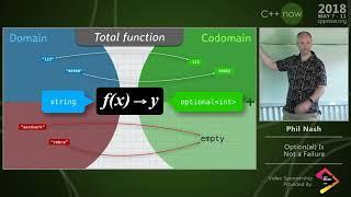 """C++Now 2018: Phil Nash """"Option(al) Is Not a Failure"""""""
