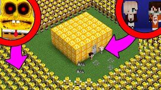 1,000,000 DE BOB ESPONJA.EXE VS CASA DE LUCKY BLOCKS | ¿PODREMOS SOBREVIVIR? MINECRAFT TROLL