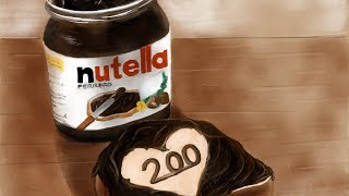 How to draw nutella jar with: Paper by 53