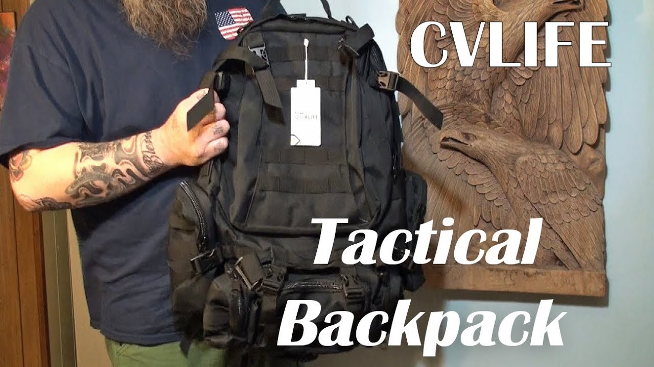 81cebe60946f ⭐TACTICAL BACKPACK CVLIFE MILITARY RUCKSACK (50L) Product Review ...