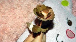 Как сделать цветок из медной фольги.