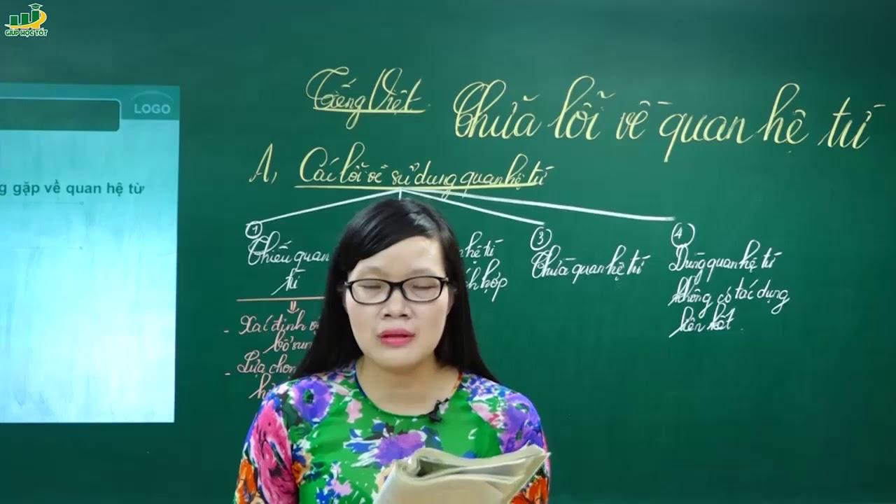 Ngữ Văn Lớp 7 –Bài giảng Chữa lỗi quan hệ từ|Tiếng Việt Từ và cụm từ |Cô Lê Hạnh