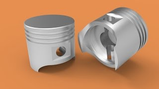 Making a piston in AutoCAD 3D