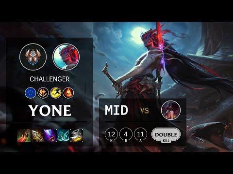 Yone Mid vs Akali - EUW Challenger Patch 10.18